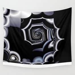 TGS Fractal Abstract in Winter Wall Tapestry