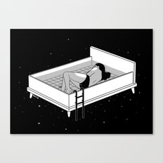 Bed for crying Canvas Print