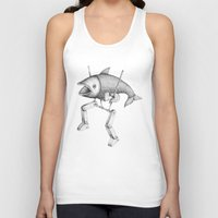 evolution Tank Tops featuring 'Evolution I' by Alex G Griffiths