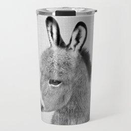 Donkey - Black & White Travel Mug