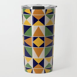 Colorful Ceramic Tile Travel Mug
