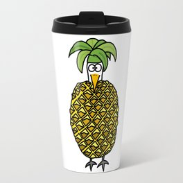 Eglantine la poule (the hen) dressed up as an pineapple Travel Mug
