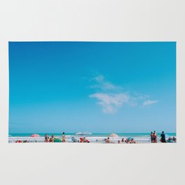 Beach large blue sky Rug