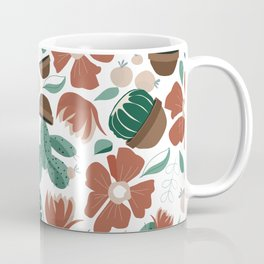 Cactus in bloom mid western flower and cacti collage Coffee Mug