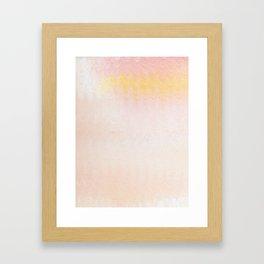 creamsicle ripples Framed Art Print