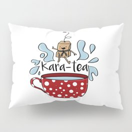 Karate Kara Tea Teabag Present Gift Cup Pillow Sham