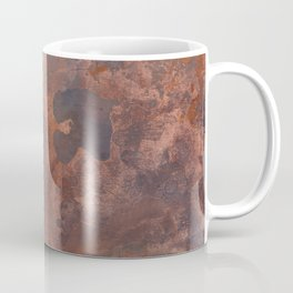 Tarnished, Stained and Scratched Copper Metal Texture Industrial Art Coffee Mug