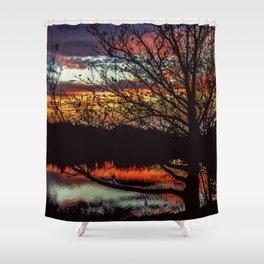 Halibut Point Sunset Shower Curtain
