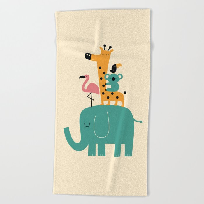 Moving on Beach Towel