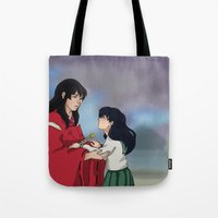 inuyasha Tote Bags featuring InuKag by nico_lle