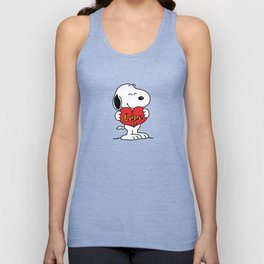 love you snoopy love Unisex Tank Top