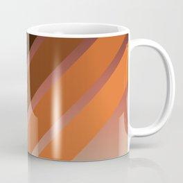 Brown Colored Retro Stripes Coffee Mug