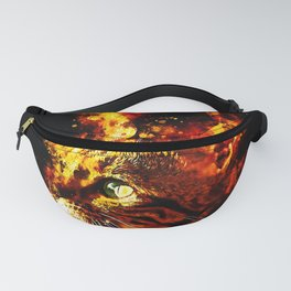 bengal cat yearns for freedom splatter watercolor Fanny Pack