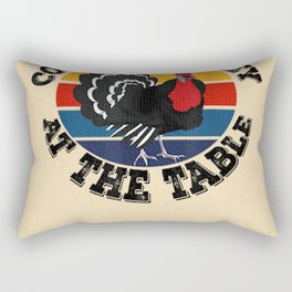 Coolest Turkey At The Table  Funny Thanksgiving Rectangular Pillow
