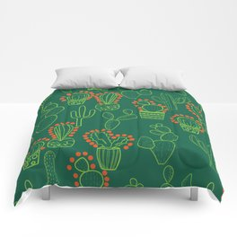 cute cactus pattern with dots Comforters