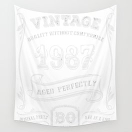 Vintage-1987---30th-Birthday-Gift-Idea Wall Tapestry
