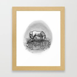 The Transformation: Elise the Unicorn Framed Art Print