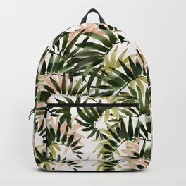 UNFURLING Tropical Palm Print Backpack