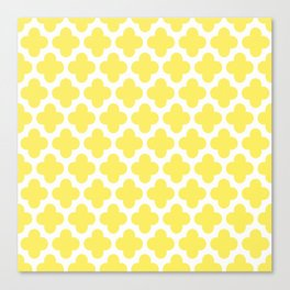 CLOVER QUATREFOIL LEMON Canvas Print