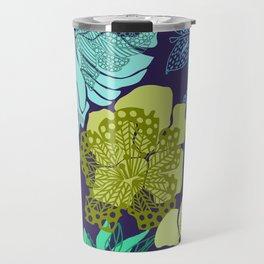 Shadow ornate floral Travel Mug