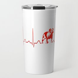 BULLDOG HEARTBEAT Travel Mug