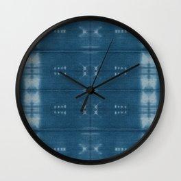 Adire mud cloth Wall Clock