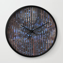 Abstract blue and brown Wall Clock