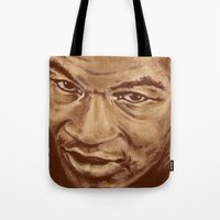 mike wrobel Tote Bags featuring mike by noblackcolor