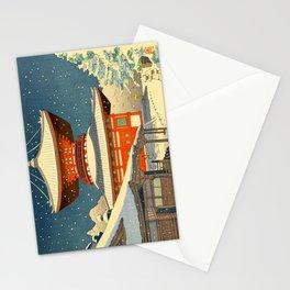 Asano Takeji Views of Wakayama Koyasan Nemoto Big Pagoda Japanese Woodblock print Stationery Cards