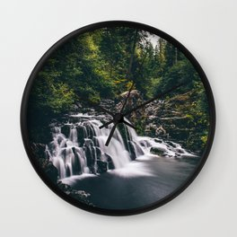 Sawmill Falls on Opal Creek, Oregon Wall Clock