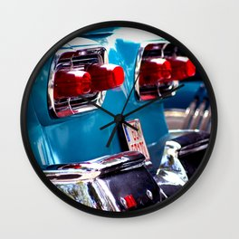 Taillights from a car Wall Clock