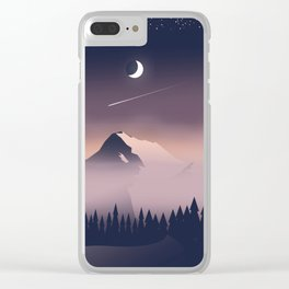 Misty Mountains. Clear iPhone Case