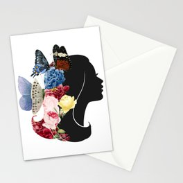 A Lady in Petals Stationery Cards