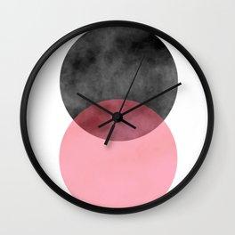 2 Minimal Circles Abstract Wall Clock