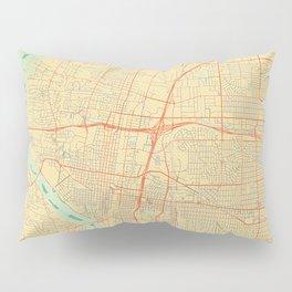 Albuquerque Map Retro Pillow Sham