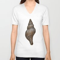 seashell V-neck T-shirts featuring Seashell by Judith Lee Folde Photography & Art