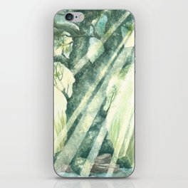 Acuarella wood iPhone Skin