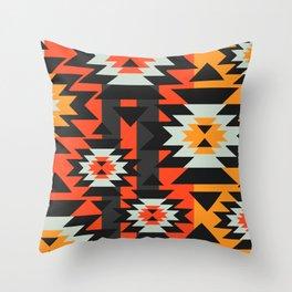 Aztec geometry Throw Pillow