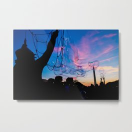 Bubbles in DC Metal Print