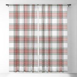 Christmas Tartan Plaid Sheer Curtain