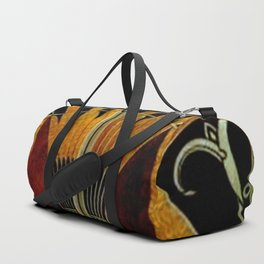 art deco wood Duffle Bag