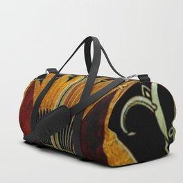 art deco wood Duffle Bag