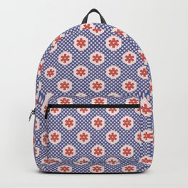 1950s Style Hexagon Patchwork Polka Dot Backpack