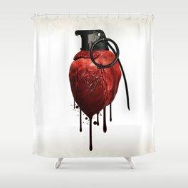 Heart Grenade Shower Curtain