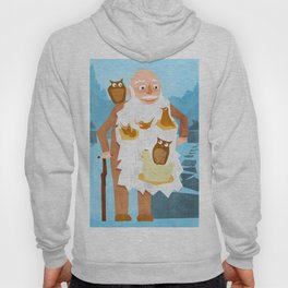 Old Man with Bird Nests in Beard Hoody