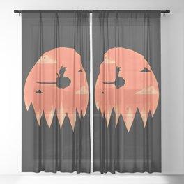 Saiyan Adventure Sheer Curtain