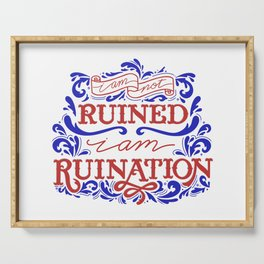 Grishaverse Quote Ruined Ruination Serving Tray