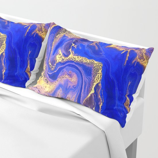 Marble gold and deep blue by healinglove8