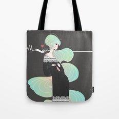 Love in Black Tote Bag