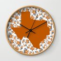 Texan texas longhorns orange and white university college football floral by varsity